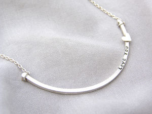 Personalised Curve Necklace - gifts under £100