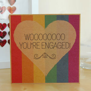 'Wooo You're Engaged' Same Sex Engagement Card - summer sale