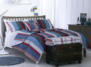 Autumn Stripe Double Quilted Bedspread - bedspreads & quilts