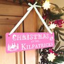Personalised Christmas Hanging Sign