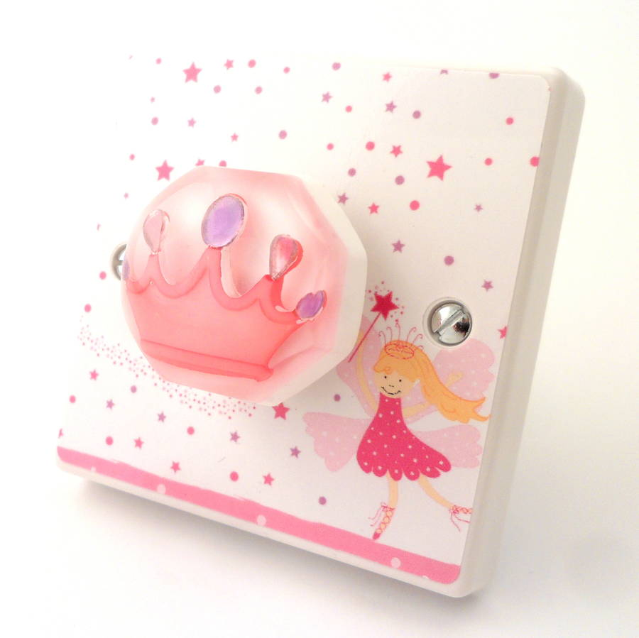 pink fairy princess bedroom light switches by candy queen