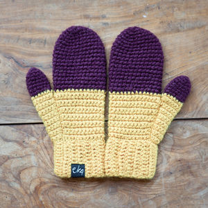 Woolly Dip Dye Mittens - hats & gloves