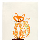Decorative Fox Teatowel