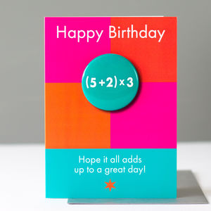 Big Special Age Birthday Badge Card