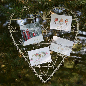 Wire Heart Photo And Memo Holder