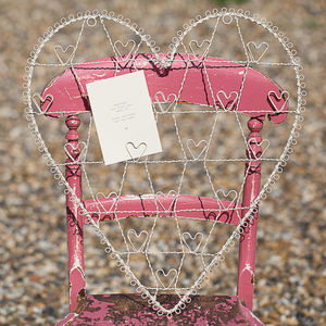 Wire Heart Photo And Memo Holder - home sale