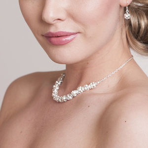 Audrey Crystal Bridal Necklace - styling your day