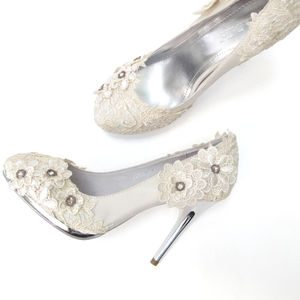 Hand Finished Lace Wedding Shoes - styling your day