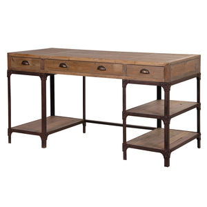Industrial Pine Desk - office & study