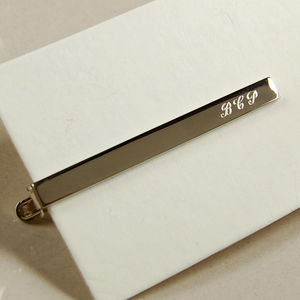 Personalised Tie Clip - wedding fashion