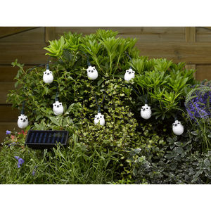 16 LED Solar Snowy Owl String Lights - christmas lights
