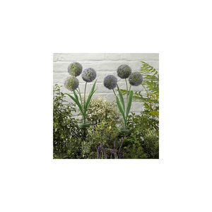 Set Of Two Allium Flower Stake Solar Lights - lighting