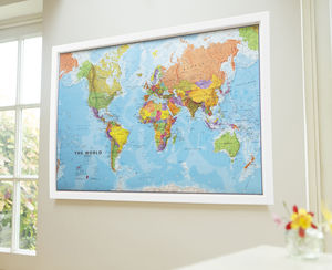 Framed World Map Poster - paintings & canvases