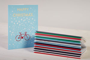 Mixed Pack Of 14 Cycling Christmas Cards - cards & wrap