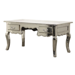 Shiny Silver French Desk - furniture