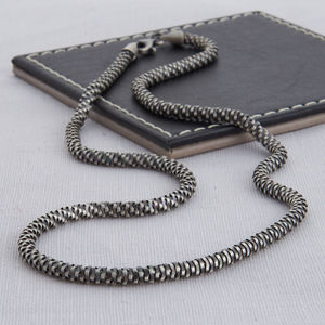 Sterling Silver Men's Helix Necklace