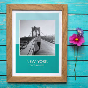 Colourful Vintage Style Travel Photo Or Canvas Print - posters & prints
