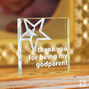Thank You For Being My Godparent Glass Token