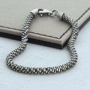 Sterling Silver Men's Helix Bracelet - bracelets