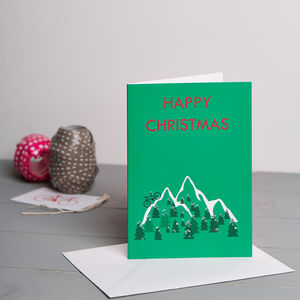 Green Mountain Bike Christmas Card