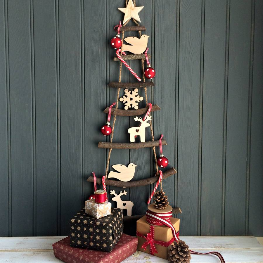 nordic rope ladder hanging christmas tree by the little picture ...