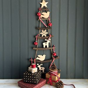 nordic rope ladder hanging christmas tree by the little picture company notonthehighstreetcom