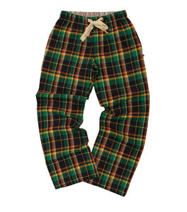 Henley Check Lounge Pants - women's fashion