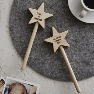 Personalised Baby's First Christmas Keepsake Star Wand - keepsakes