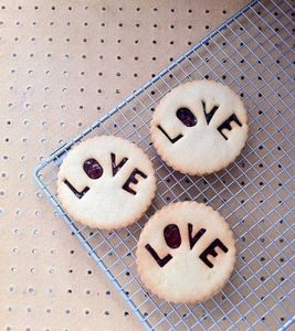 Six Love Jammie Biscuits - food & drink gifts