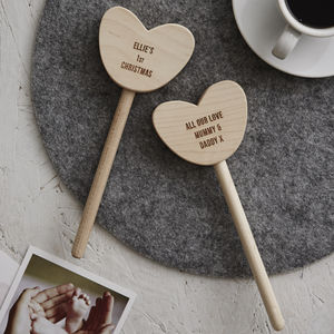 Personalised Baby's First Christmas Keepsake Heart Wand