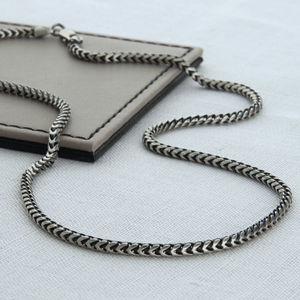 Sterling Silver Men's Snake Chain Necklace