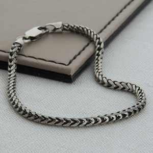 Sterling Silver Men's Snake Chain Bracelet