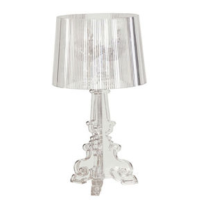 Designer Style Table Lamp In Transparent Or Gold - table & floor lamps