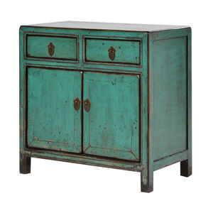 Distressed Cupboard In Turquoise - living room