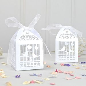Pack Of Ten Birdcage Favour Boxes