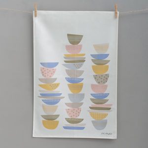 Dish Stacks Tea Towel