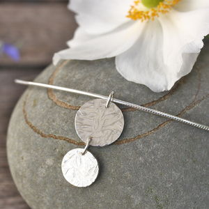 Handmade Silver Disk Necklace