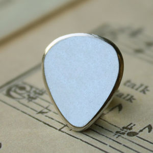 Guitar Plectrum Tie Pin - tie pins & clips