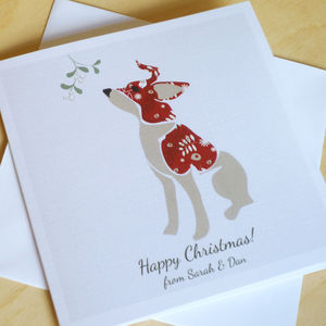 A Set Of Personalised Christmas Cards: Christmas Puppy