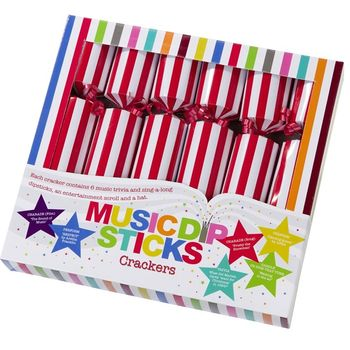Set Of Six Musical Dipstick Crackers
