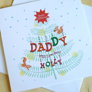 Personalised Christmas Tree Card: For Dads - cards