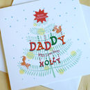 Personalised Christmas Tree Card: For Dads
