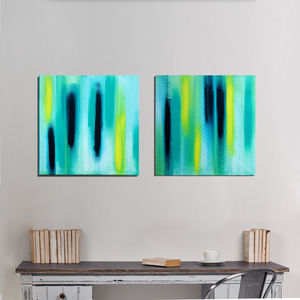 Set Of Two Abstract Original Paintings - contemporary art
