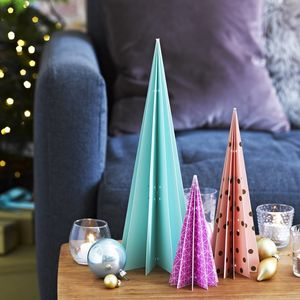 Geo Table Christmas Tree Decorations - christmas trees