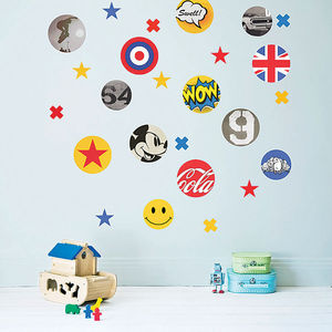 Children's Pop Art Fabric Wall Stickers - wall stickers