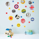 Children's Pop Art Fabric Wall Stickers