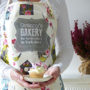 Personalised 'Best Bakery' Oilcloth Apron - kitchen