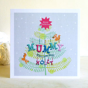 Personalised Christmas Tree Card: For Mums - christmas cards
