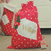Personalised Christmas Santa Sack - christmas decorations