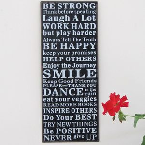 'Be Happy' Metal Wall Sign - pictures & prints for children